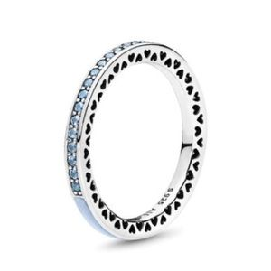 New Radiant Hearts of Pandora light blue ring